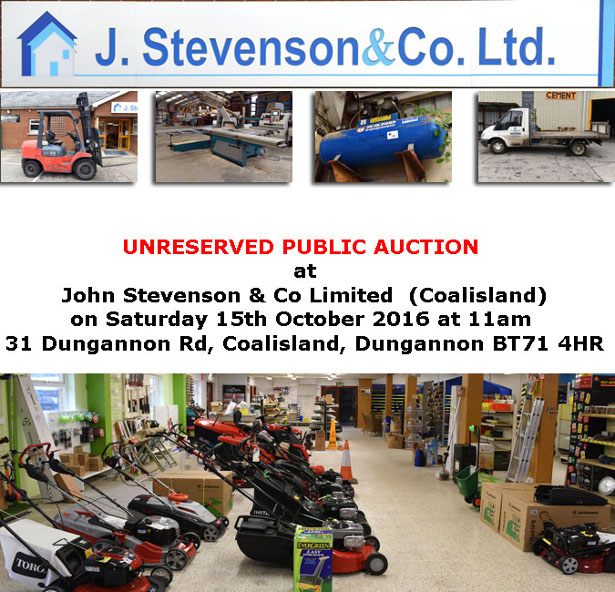 eed115ac06 JAMES ARMSTRONG AUCTIONEERS – UNRESERVED PUBLIC AUCTION – AT JOHN ...