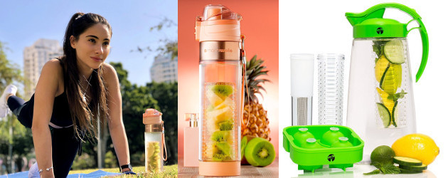 d1fbf27ec7 MAMI WATA Fruit Infuser Water Bottle & Fruit & Tea Infusion Water Pitcher!  Both Available Now On Amazon!