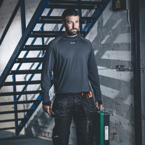 Scruffs Active Hoodie Charcoal | Griggs