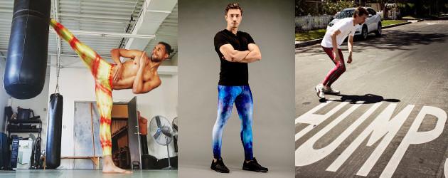 ddfdb168b6d KAPOW MEGGINGS Men's active wear with a twist, kick-ass men's ...