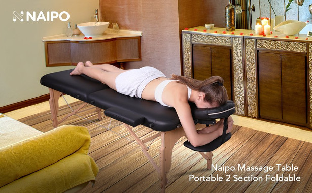 Are You Setting Up Home Beauty Or Post Fitness Rehabilitation Facilities  For Home Massage And Physio! Naipo Massage Table Bed Chair Beauty Couch  2 Section ...