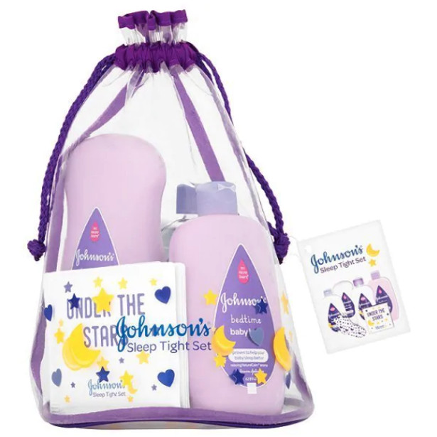 Available at Superdrug, ASDA, Amazon and other high street supermarkets. JOHNSONSⓇ sleep Tight Gift Set helps prepare baby for bed and enhances your bond.