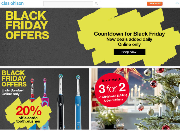 875a7f48 Swedish Homeware and Hardware Retailer, Clas Ohlson Announces Countdown to  Black Friday With Brand New Offers to be Revealed Each Day