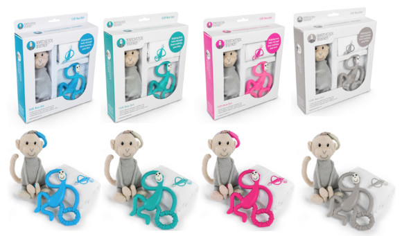 Pink Baby Aggressive Matchstick Monkey Dancing Monkey Teether Feeding