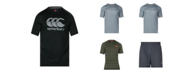 Rugby training wear ➡️ www.canterbury.com … FACEBOOK | TWITTER | INSTAGRAM | YOUTUBE   Mens Vapodri Woven Gym Short , £30.00 Mens Core Vapodri Large Logo Tee, £18, available […]