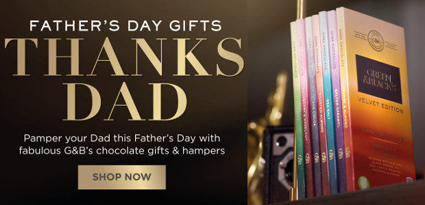 Pamper Your Dad this Father's Day with fabulous Green & Black's chocolate gifts & hampers! www.greenandblacks.co.uk GOOGLE+   TWITTER   FACEBOOK   INSTAGRAM