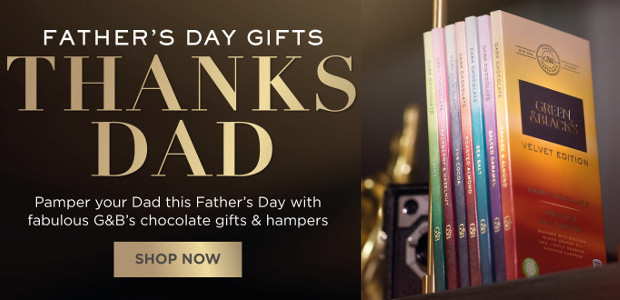 Pamper Your Dad this Father's Day with fabulous Green & Black's chocolate gifts & hampers! www.greenandblacks.co.uk GOOGLE+ | TWITTER | FACEBOOK | INSTAGRAM
