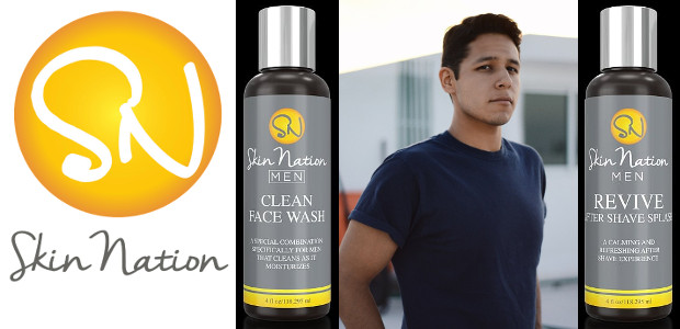 """Skin Nation all natural """"Clean Face Wash for Men"""" and """"Revive Aftershave Splash for Men """" available on Amazon & www.skinnation.com. TWITTER 