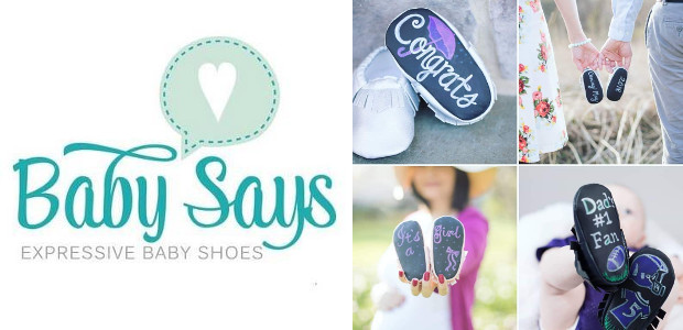Chalkboard Shoes by Baby Says® are the ultimate gifts for baby showers, pregnancy announcements, gender reveals, new parents, and even decor! www.babysays.com FACEBOOK | TWITTER | PINTEREST | INSTAGRAM Chalkboard […]