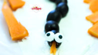Crespo – Halloween Snakes These fun spooky snakes can be made in 4 simple steps. www.crespo-olives.co.uk FACEBOOK You will need Cream cheese Crespo Black Pitted Olives 1 small carrot, peeled […]