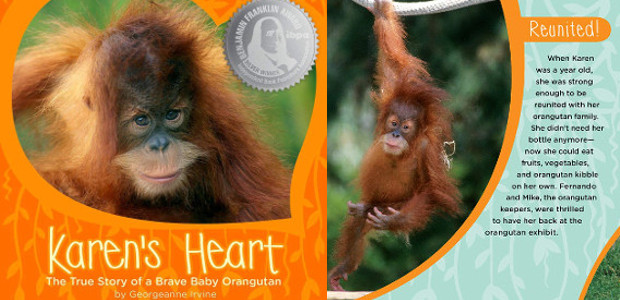BOOK > From San Diego Zoo >> Karen's Heart: The True Story of a Brave Baby Orangutan Hardcover – by Georgeanne Irvine (Author) >> On Amazon Readers will be inspired by […]