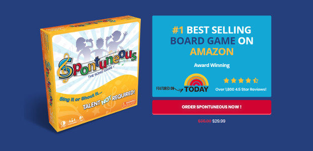 SPONTUNEOUS—THE SONG GAME IS THE GIFT OF MUSIC THAT PROMISES A HAPPY HOLIDAY AND BEYOND For Past Two Holiday Seasons, SPONTUNEOUS—THE SONG GAME Listed as #1 Best Selling Board Game […]