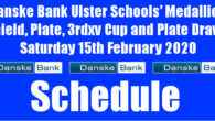 Danske Bank Ulster Schools' Medallion Shield, Plate, 3rdxv Cup and Plate Draws Saturday 15th February 2020 To follow INTOUCH RUGBY on Facebook CLICK HERE to Follow InTouch Schools & Clubs […]