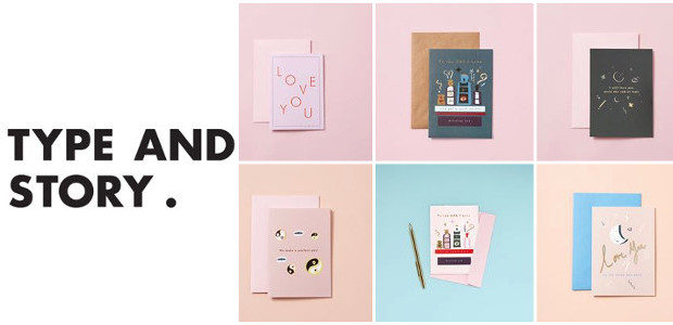 Type and Story is a paper-based lifestyle brand launching in June 2017 with our first range of blank cards, note-cards, prints and notebooks. Ideal for personalised gifts with a graphic, […]