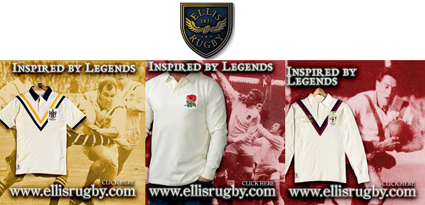 CLASSIC RUGBY UNION & RUGBY LEAGUE by ELLIS RUGBY ELLIS RUGBY – THE RUGBY HERITAGE BRAND. www.ellisrugby.com . A Pride In The Jersey Company.