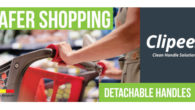 Clipeez Safer Shopping Detachable Trolley Handle Covers! AVOID CONTACT / Easy To Clean & reusable / Easy to click on & off! www.ppesuppliesonline.com