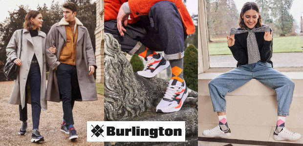 Burlington – Home of the original argyle. Cult, creativity and a healthy dose of self-irony characterize the brand with the diamond motif.