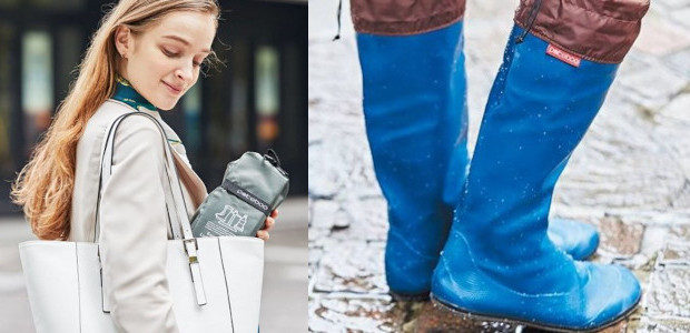 Japanese Rain Boots – www.pokeboo.uk @pokeboo.uk Lightweight & Compact Portable Boots So convenient, you will want to take them everywhere! GOOD DESIGN AWARD 2018