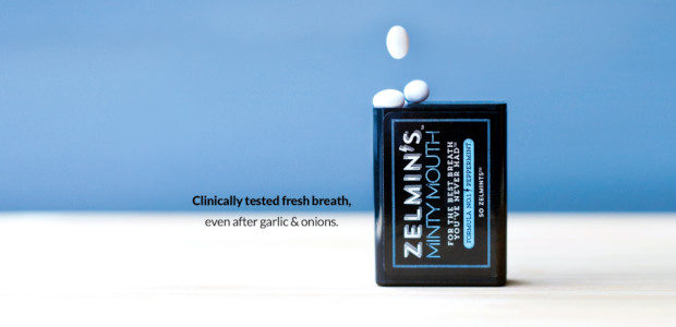 """zelmins.com Breath Freshener Zelmin's Minty Mouth (zelmins.com). A dual-action functional breath freshener – clinically tested, EVEN if you load up on garlic and onions at your poolside BBQ. """"No one […]"""