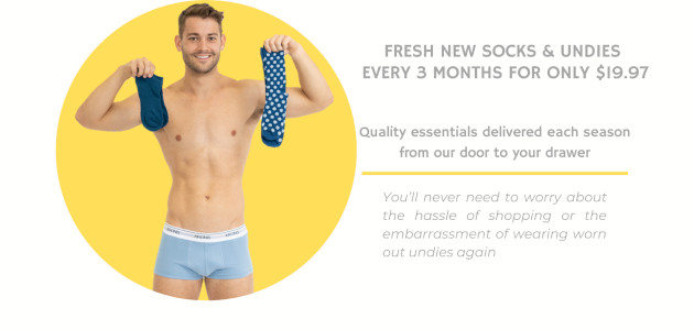 iamyourwingman Men's Socks and Underwear Subscription Service. iamyourwingman will send out … • 1 pair of men's underwear • 1 pair of dress socks • 1 pair of sport socks […]