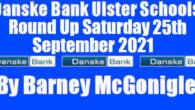Danske Bank Ulster Schools' Round Up Saturday 25th September 2021 On Wednesday 22nd September games involving teams from Antrim Grammar School, Ballyclare High School, Coleraine Grammar School and Limavady Grammar […]