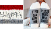 We love pretty things and clever words, don't you? These socks make people happy! >> www.etsy.com/ca/shop/BlacknotFarm Blacknot Farm have a number of products that may interest you for Christmas presents! […]