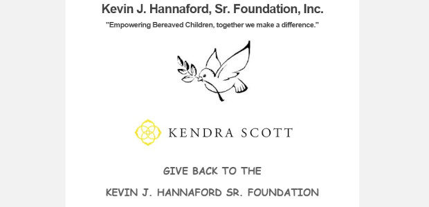 SUPPORT The KEVIN J. HANNAFORD SR. FOUNDATION >> Via Kendra Scott @KendraScottMallatShorthills on Sept 9-11th in-store or online in support of The Kevin Hannaford Foundation… Please use code GIVEBACK-AHWZU on […]