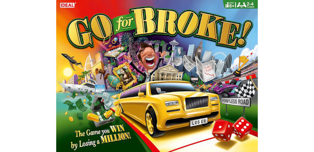 Go For Broke game from Ideal The game you win by losing a million! On Amazon ! (www.idealboardgames.co.uk) Your Great Uncle Edward has popped his clogs and this billion-pound fortune […]